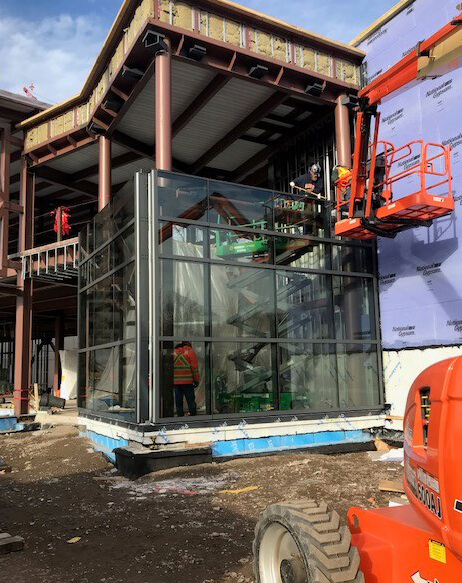 Graboyes begins unitized curtainwall facade installation for